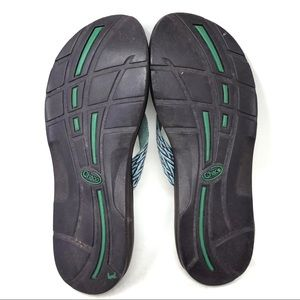 Chaco Shoes - Chaco Ecotread Purple Teal Thong Flip Flop Sandals